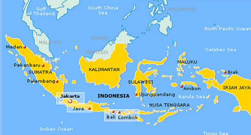 Map Of Indonesian Islands Bali